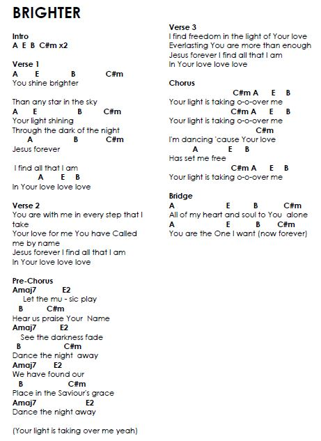 Sing about you chords